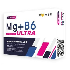 PUWER Magnez z Witaminą B6 Mg+B6 Ultra 60 tabletek Ciało